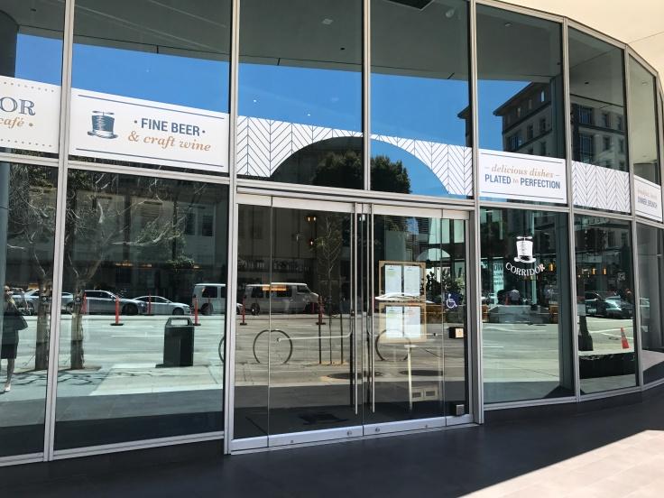 Exterior Photo of Corridor Restaurant in San Francisco, California From the Sidewalk on Van Ness Street