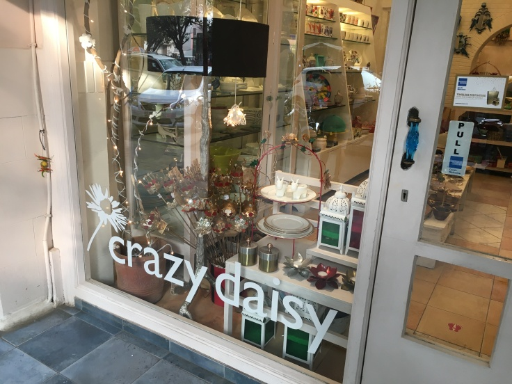 The Front of the Crazy Daisy Store in New Delhi, India as Viewed from the Sidewalk