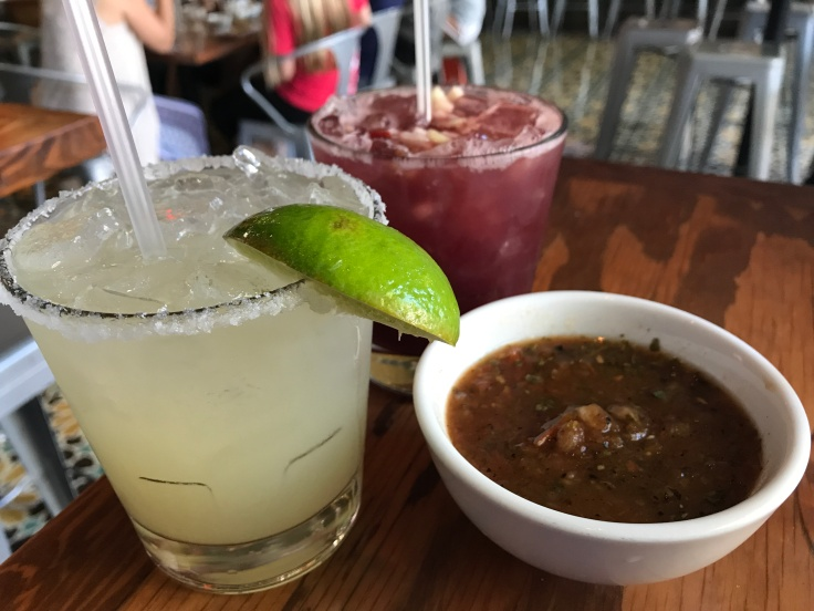 A Margarita, a Sangria and Salsa at Tacolicious in Palo Alto, California