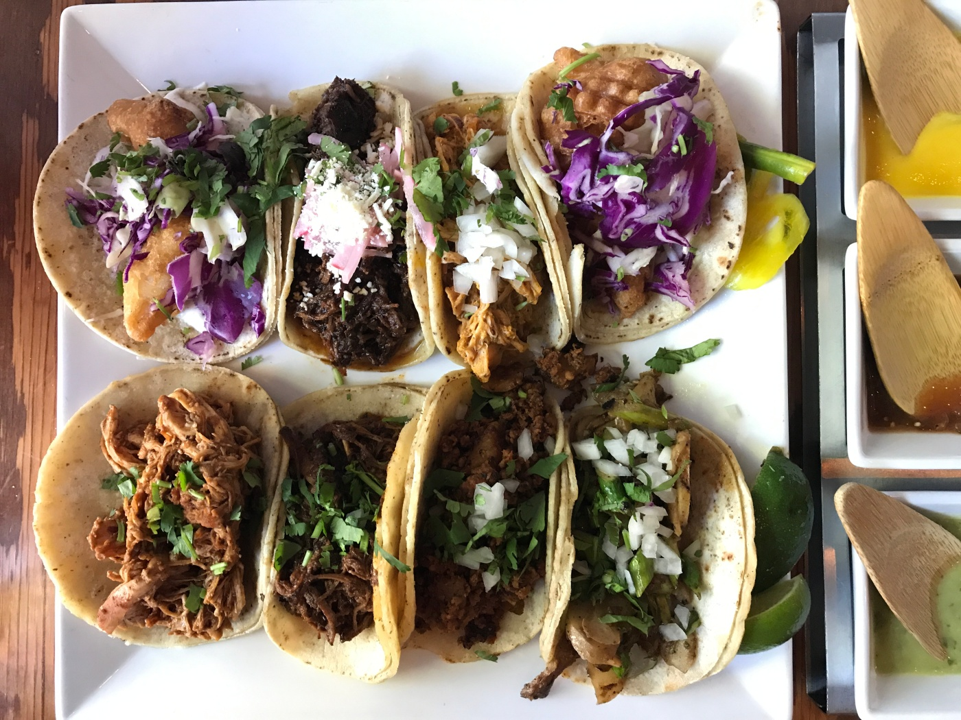 A Plate of Delicious Tacos at Tacolicious in Downtown Palo Alto, California