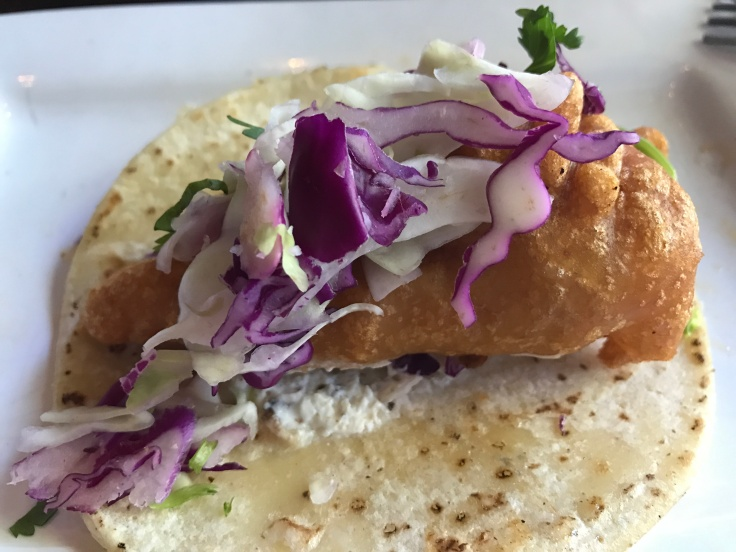 A Baja Style Pacific Cod Taco at Tacolicious in Palo Alto, California