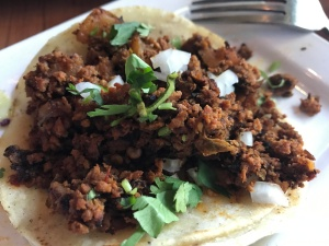 House Made Chorizo Taco with Potatoes at Tacolicious in Palo Alto, California