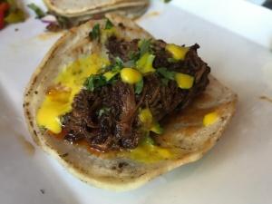 Guajillo Chili Braised Beef Taco at Tacolicious in Palo Alto, California