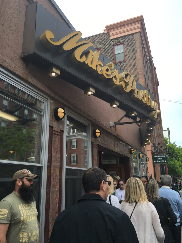 A Line Forms Outside of Mike's Pastry in Boston, Massachusetts