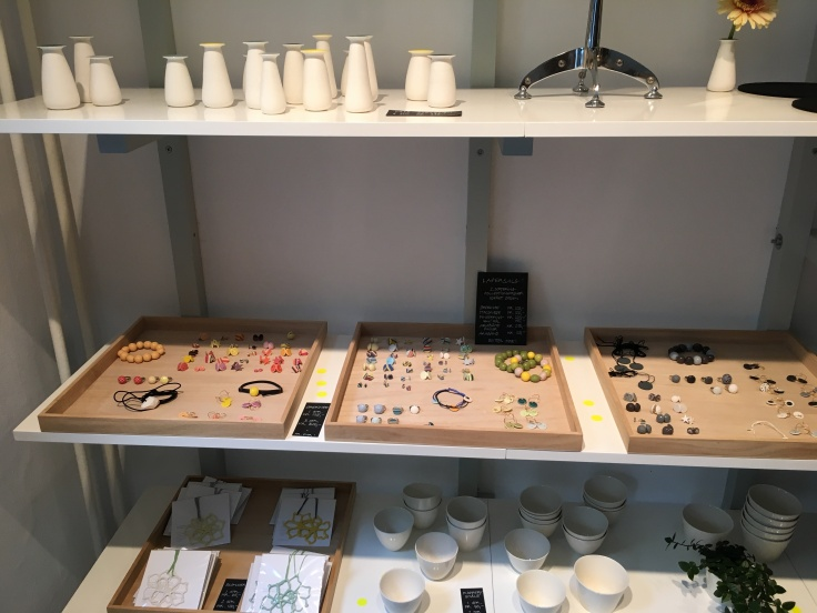 Brightly Hued Bracelets and Earrings Decorate Trays at Priip in Copenhagen, Denmark