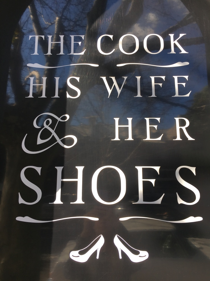 "A Sign that Says, ""The Cook, His Wife & Her Shoes"" in the Surry Hills Suburb of Sydney, Australia"