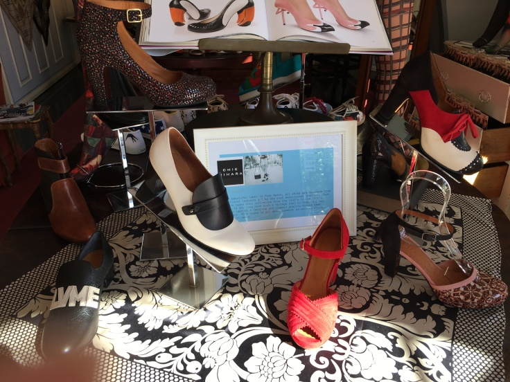 High Heels from Chie Mihara on a Table Display at The Cook, His Wife & Her Shoes in Australia