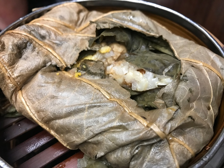 Keep Your Cool - Hot Lotus Leaf Steamed Pork and Shrimp Sticky Rice at Lee Kitchen in Toronto Pearson International Airport