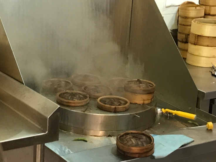 Steam Room - The Dumpling Steamer at Lee Kitchen in Toronto Pearson International Airport in Canada