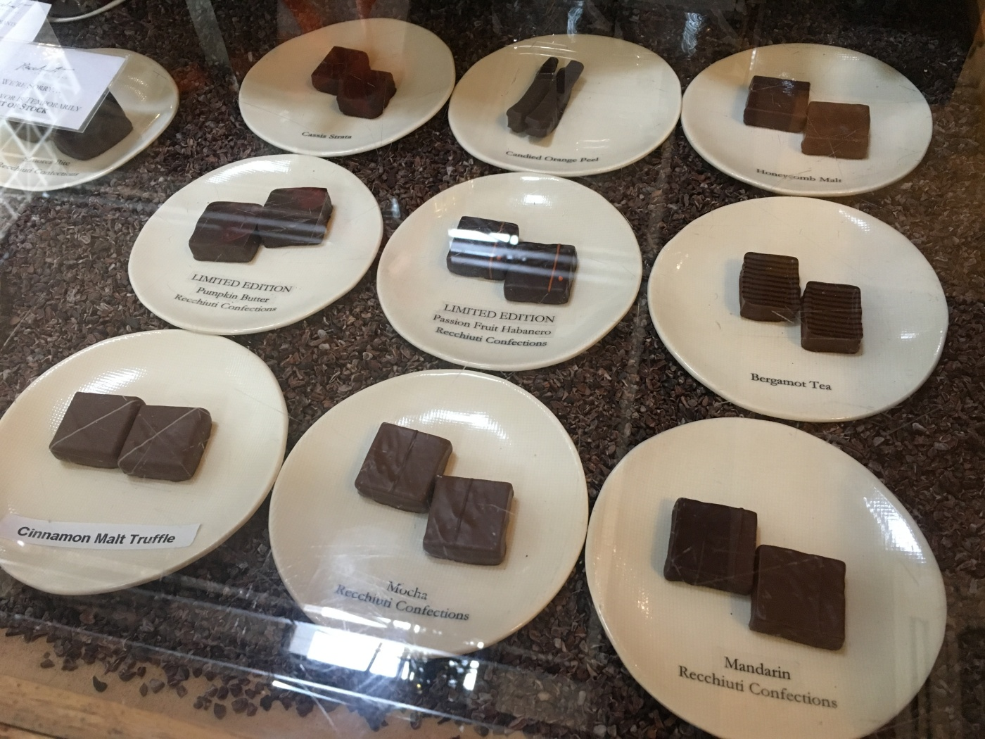 Chocolate Treats from Recchiuti Confections in San Francisco, California's Ferry Building