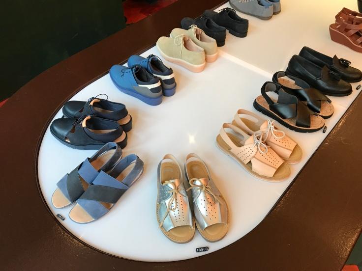 Camper Shoes on Display at the Kron Shoe Store in Reykjavík, Iceland