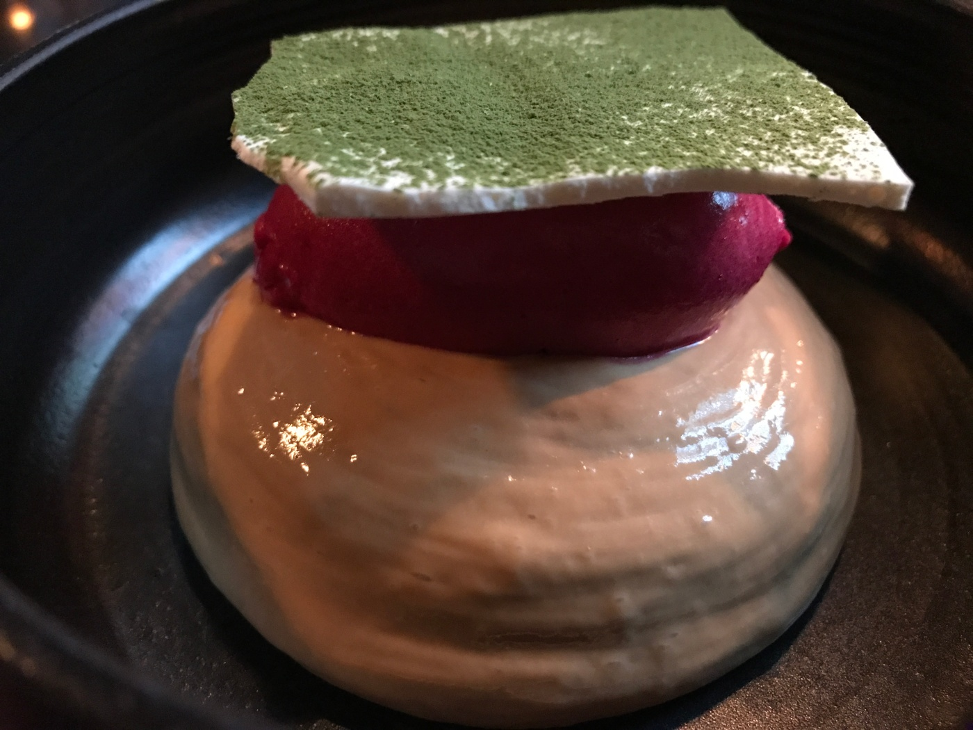 Dillicious - Brown Cheese, Beet and Meringue at Dill Restaurant in Reykjavík, Iceland