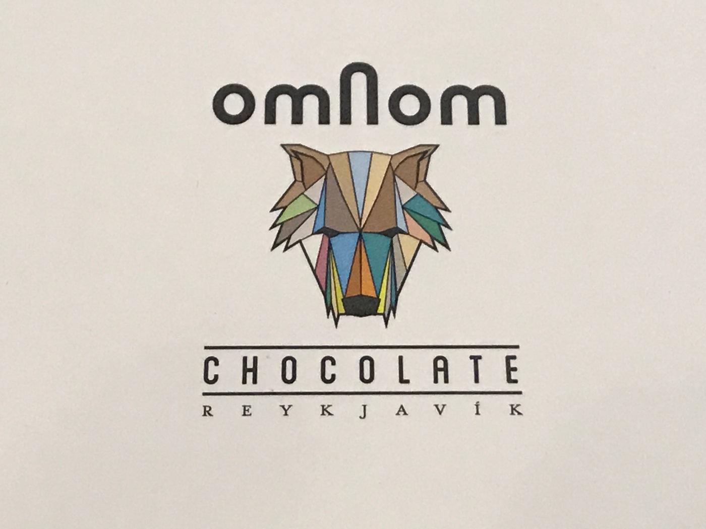 Omnom Chocolate's Iconic Wolf Logo in Reykjavík, Iceland