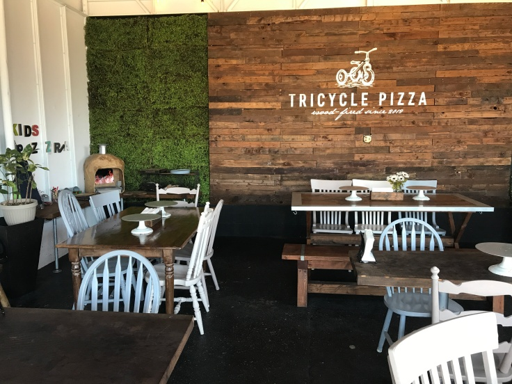 A Real Pizza Work - Tricycle Pizza's Indoor Dining Area in Monterey, California