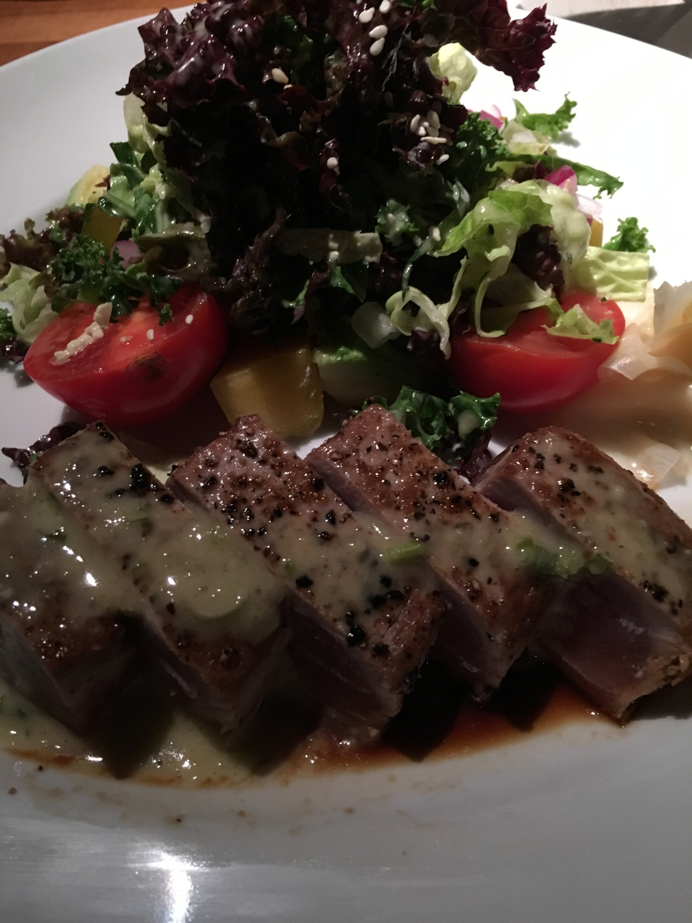 Green Machine - Sashimi Ahi Tuna and Mixed Greens at Los Altos Grill in Los Altos, California