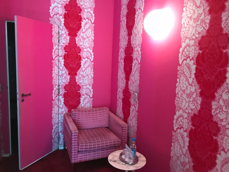 The Pink Panther Would Love it Here - A Hot Pink Room at Hôtel du Petit Moulin in Paris, France