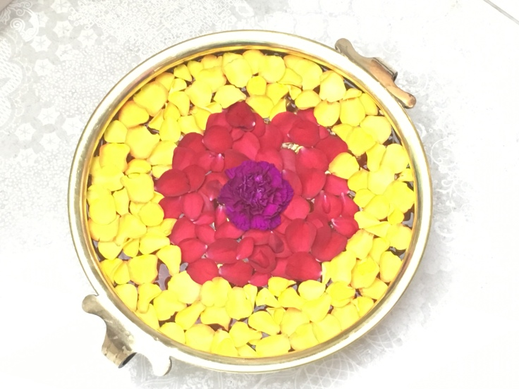 Best of the Bunch - An Example of Flower Petal Rangoli in Mumbai, India