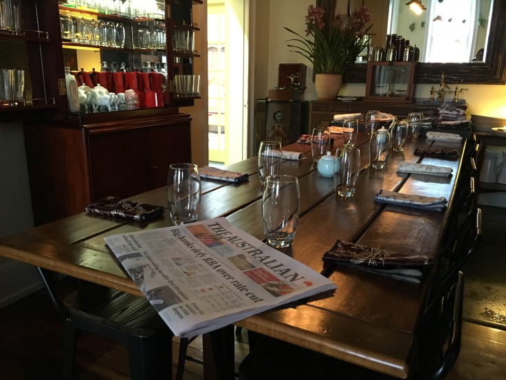 The Elegant Community Table at A Tiny Place in Hobart, Tasmania