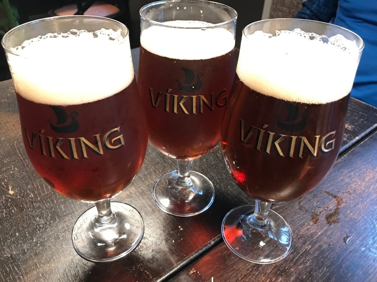 Beer Belly - Pints of Einstök Ölgerð's Viking White Ale at Kaffi Krús in Selfoss, Iceland