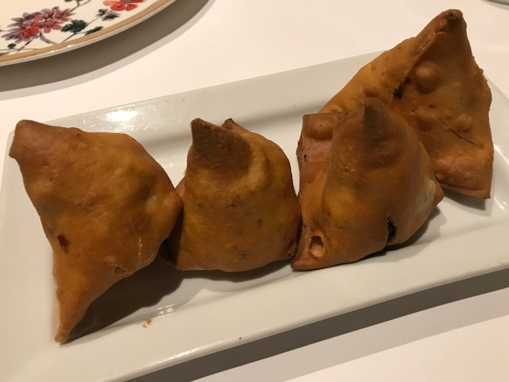 Never Hurt a Samosa, They Have Fillings Too - Delicious Potli Samosa Pyramids at Rangoli India Restaurant in San Jose, California