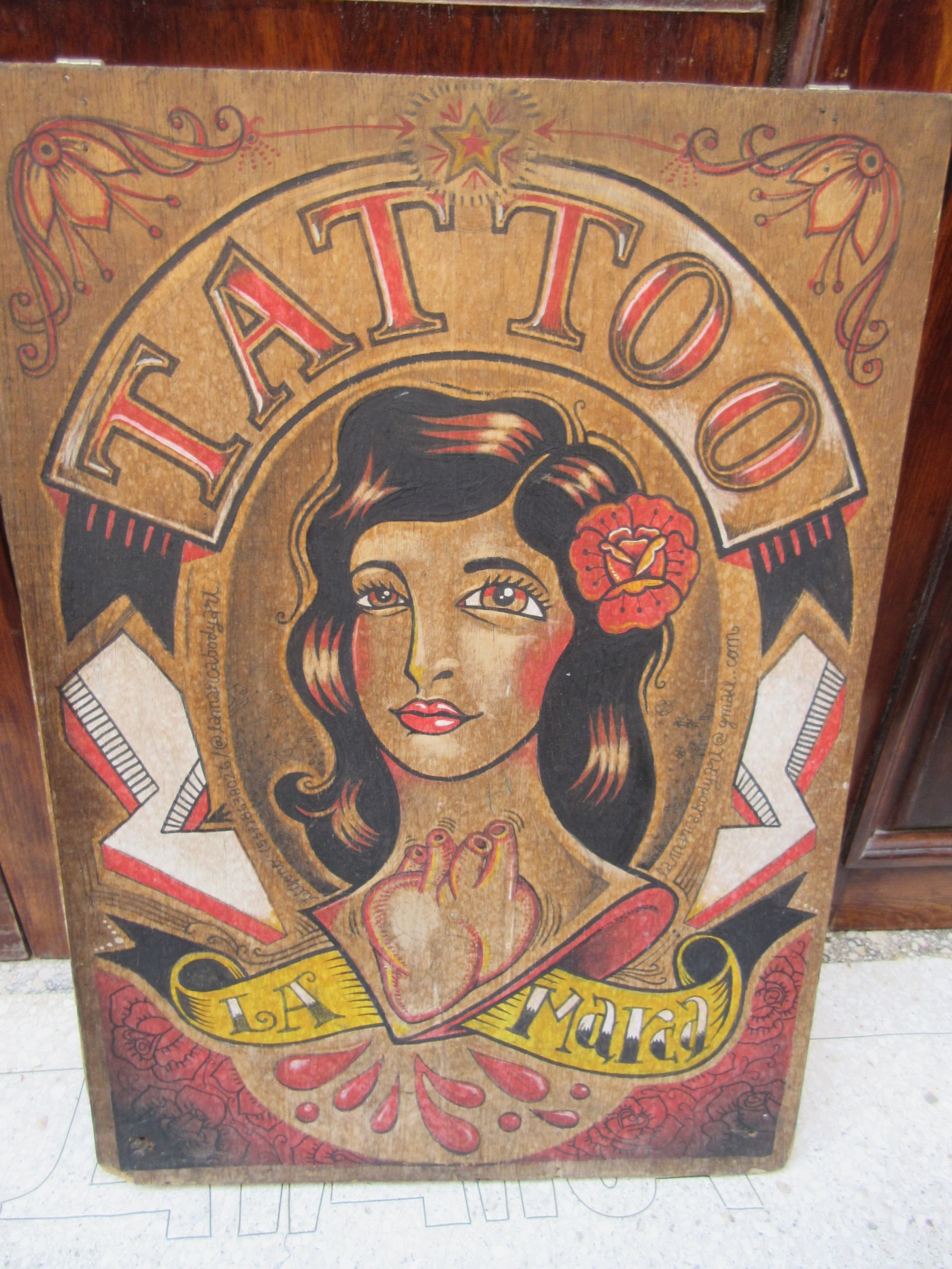 La Marca Tattoo Shop and Art Gallery in Old Havana (Habana Vieja), Cuba