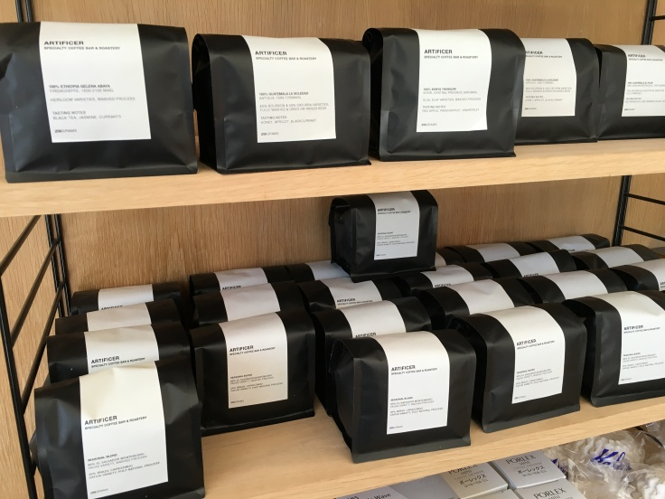 Bean There, Done That - Bags of Beans at Artificer Specialty Coffee Bar & Roastery in Surry Hills Near Sydney, Australia