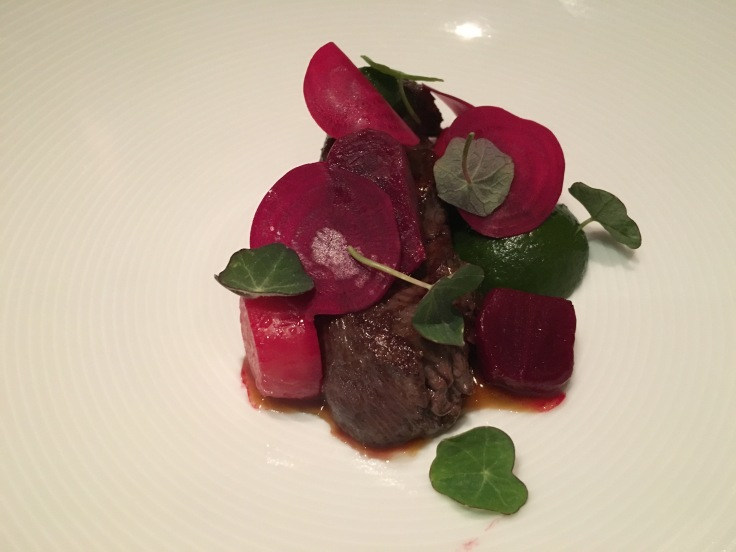 Just Beet it - Loin of New Zealand Venison Paired with Beetroot at Tetsuya's Restaurant in Sydney, Australia