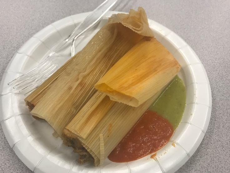 Stuffed with Love - A Pair of Carnitas Tamales From Alicia's Tamales Los Mayas at the University of the Pacific's Saturday Seminar