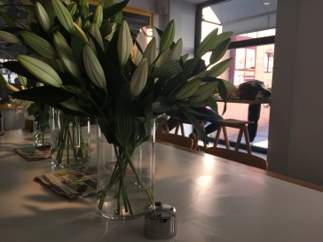 ...and Fresh Flowers at Federal in Madrid, Spain