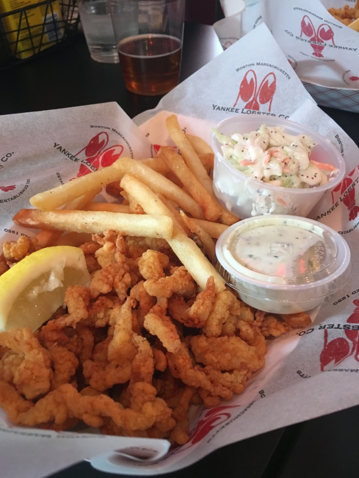 If Your Hands Get All Clammy, That's a Good Thing - Fried Clam Strips at the Yankee Lobster Company in Boston, Massachusetts