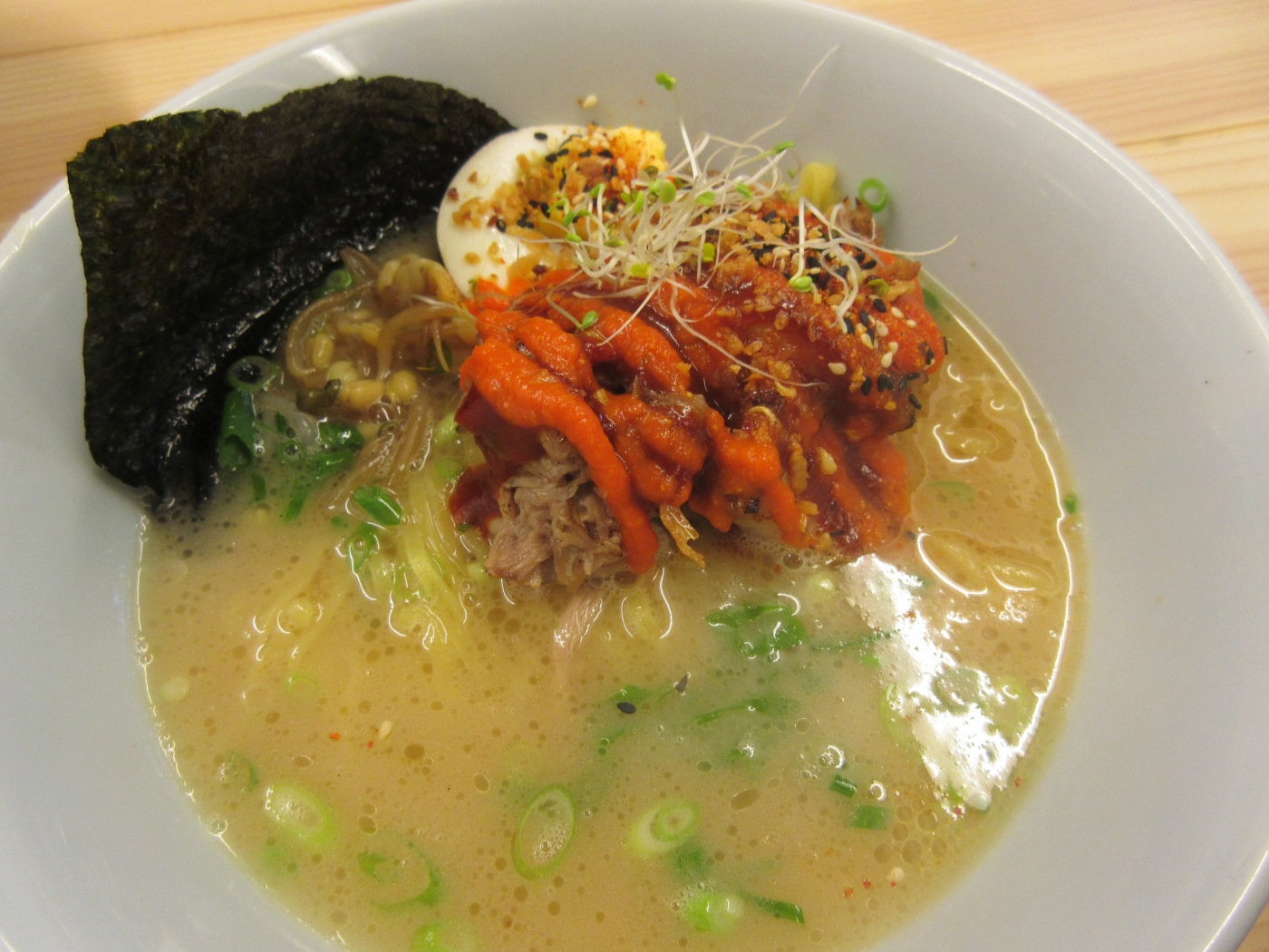 Ramen Love With You - A Bowl of Spicy Garlic Tonkotsu Ramen at Fat Ramen in Helsinki, Finland