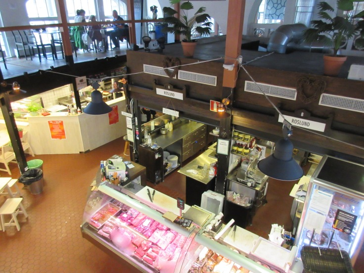 Foodie Watching - A View From the Second Floor of Helsinki, Finland's Hietalahti Market Hall