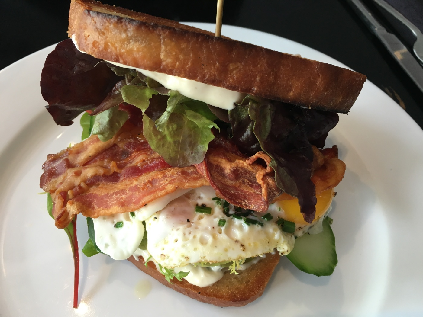 So That's Where All the Bacon Went - A Massive BLT and Fried Egg Sandwich at Bodega in Copenhagen, Denmark