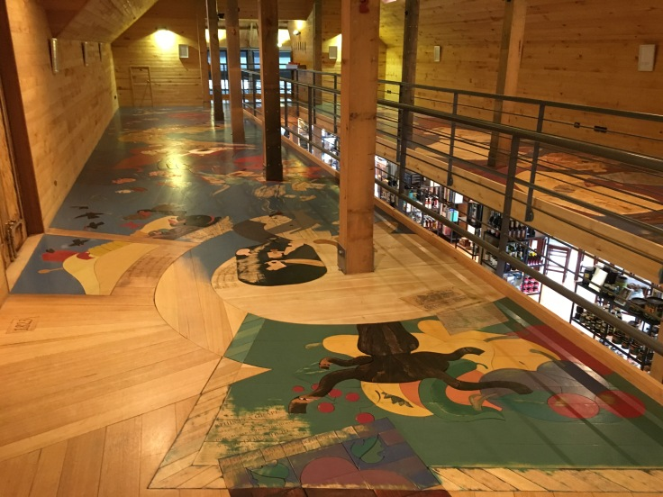 It's Okay to Stare at the Floor - Local Artist Tom Samek's Art Installation at Frogmore Creek