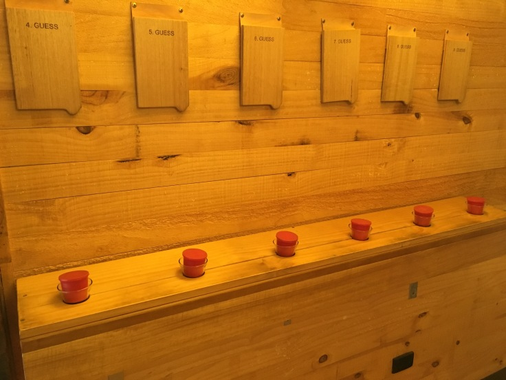 Sniff Test - An Interactive Exhibit on the Second Floor of Frogmore Creek Winery Near Hobart, Tasmania