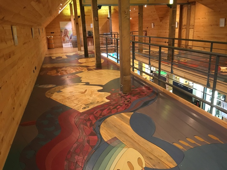 Boards You Won't Get Bored By - Frogmore Creek's Wooden Floor Art Installation by Tom Samek