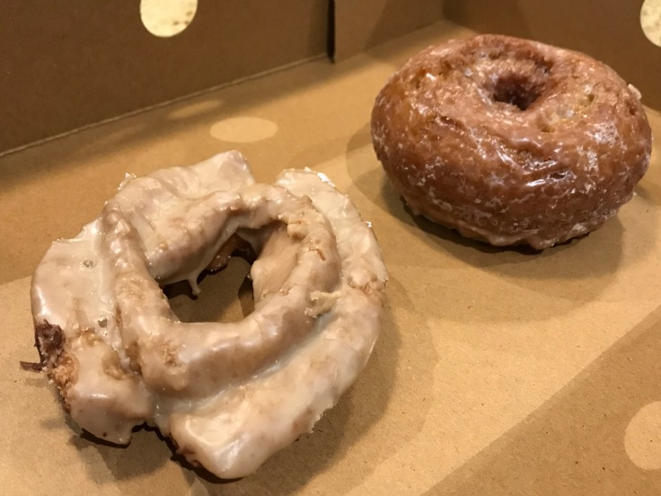 Oh My Gourd - A Maple Glazed Old Fashioned and a Pumpkin Buttermilk Donut From Stan's Donut Shop in Santa Clara, California