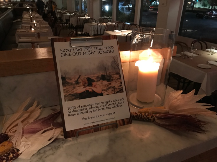 Food You Feel Good About - This Week Palo Alto Based Mayfield Bakery Donated 100 Percent of the Proceeds From a Night of Dinners to the NorCal Fires Relief Fund