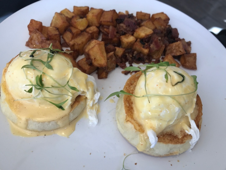 Fit for a Queen (or a King) Eggs Benedict at Voyageur du Temps in Los Altos, California