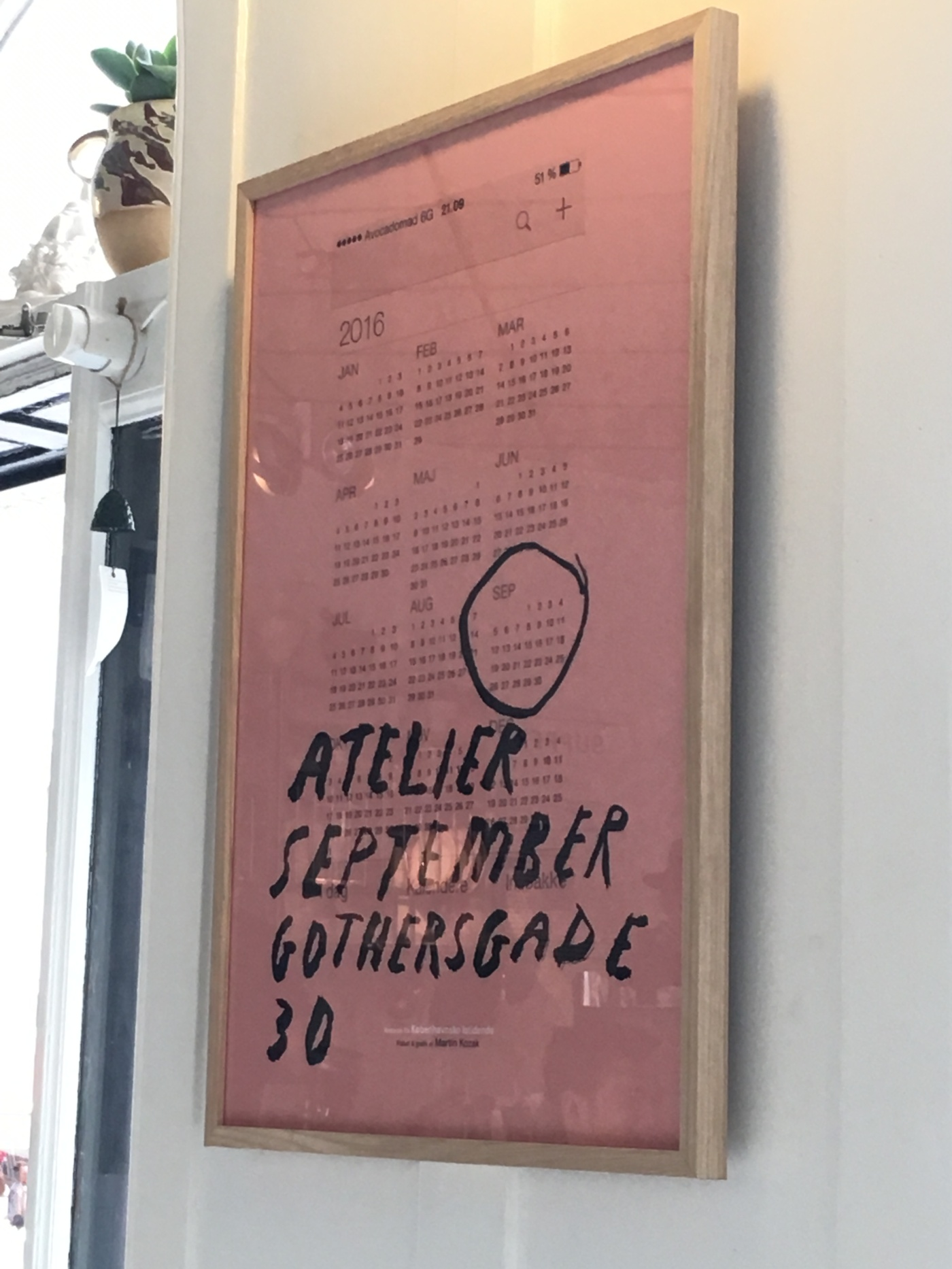 A Vintage Poster at Café Atelier September in Copenhagen, Denmark