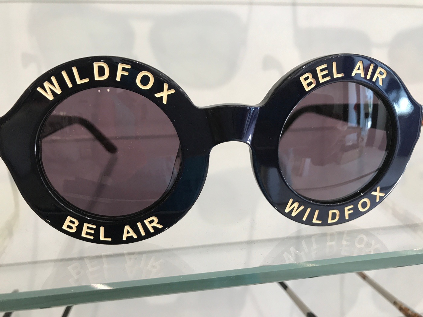 Cali Girl Cool - Black 'Bel Air' 44mm Sunglasses From Wildfox in West Hollywood, California