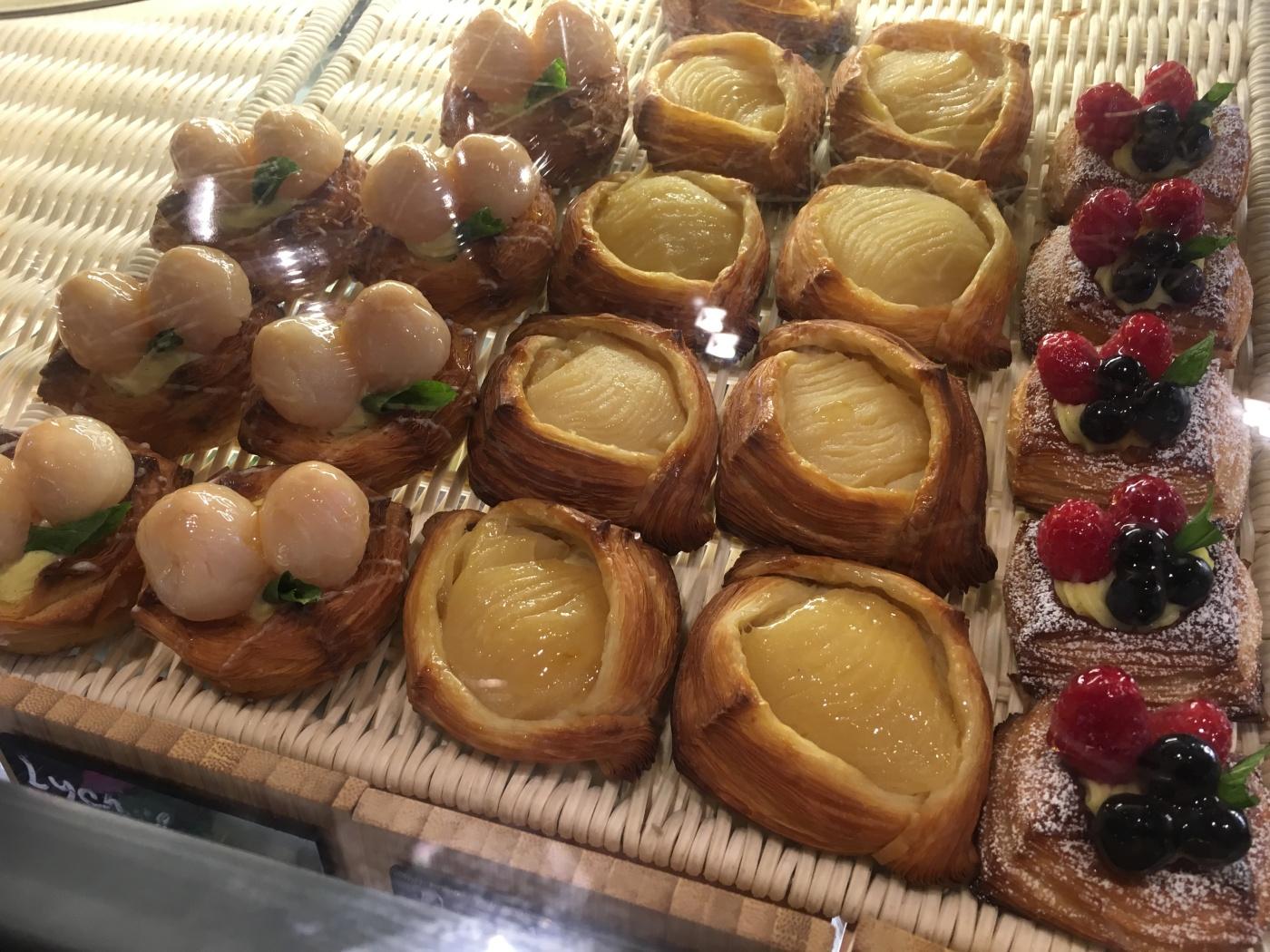 Delicious Pastries at Voyageur du Temps in Los Altos, California