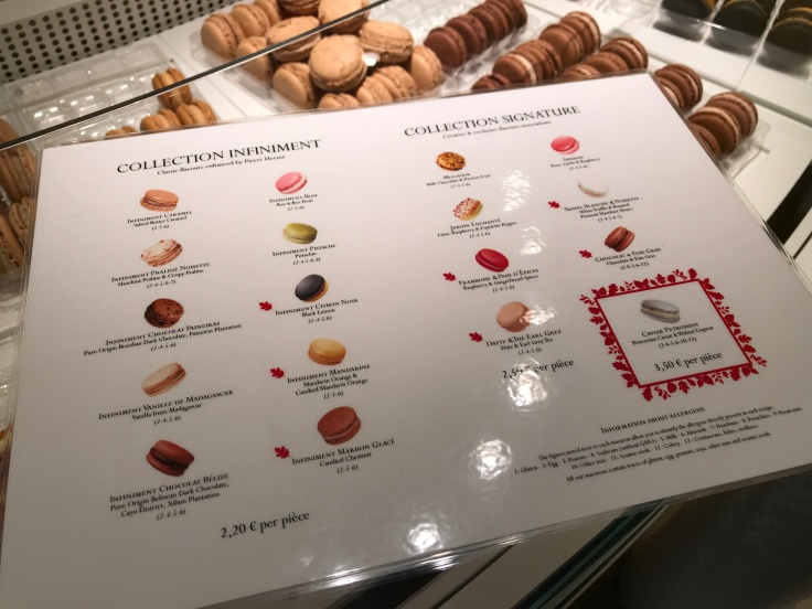 Shipping Sweetness Daily - The Full Menu of Macarons at Pierre Hermé in Paris, France