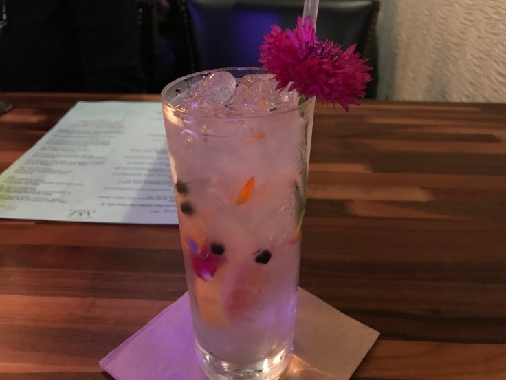 Flower Power - An Asa G&T With Edible Flowers at Restaurant Asa in Los Altos, California
