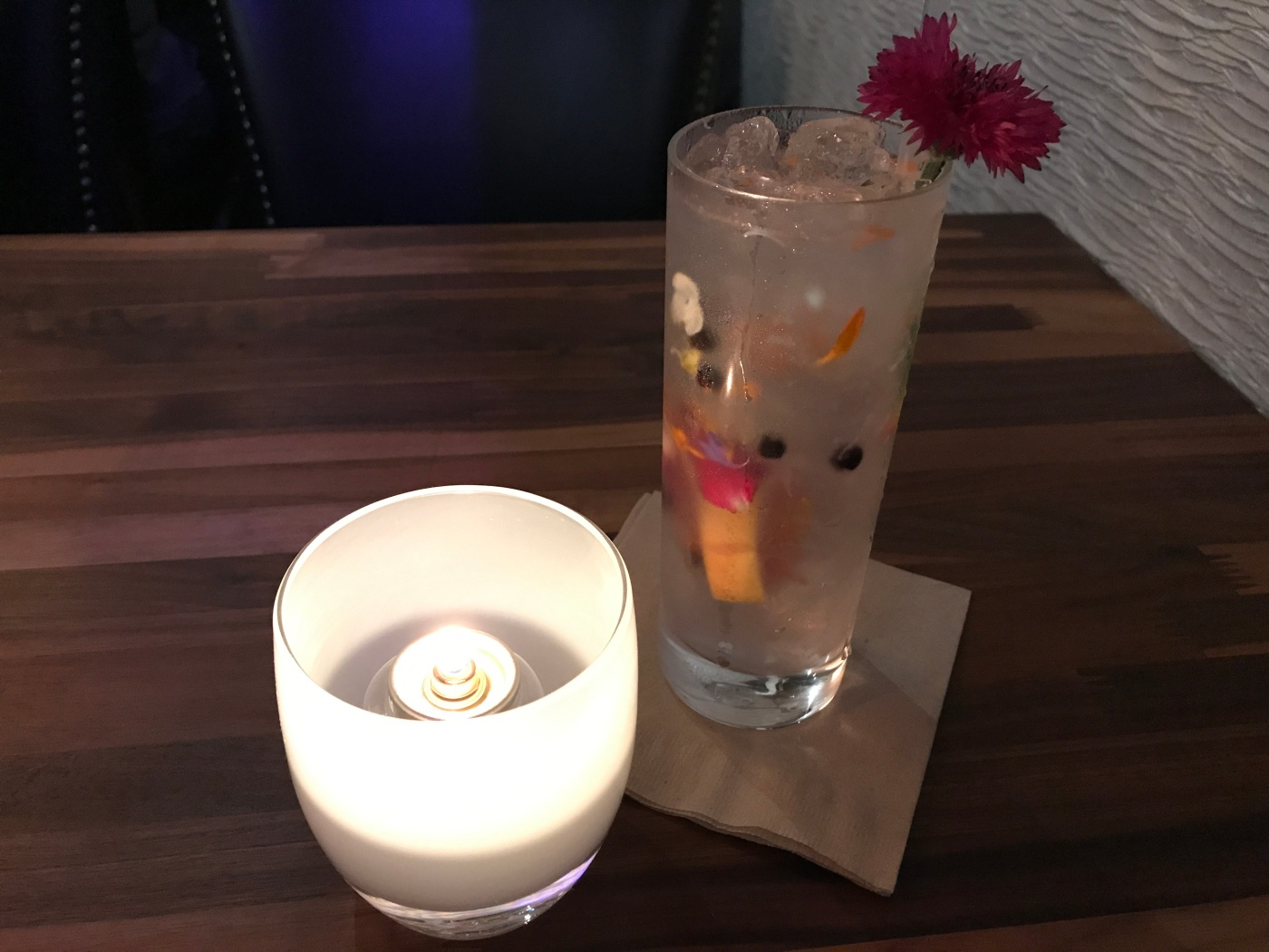 An Asa G&T - A Gin and Tonic made with Grapefruit and Edible Flowers at Asa in Los Altos, California