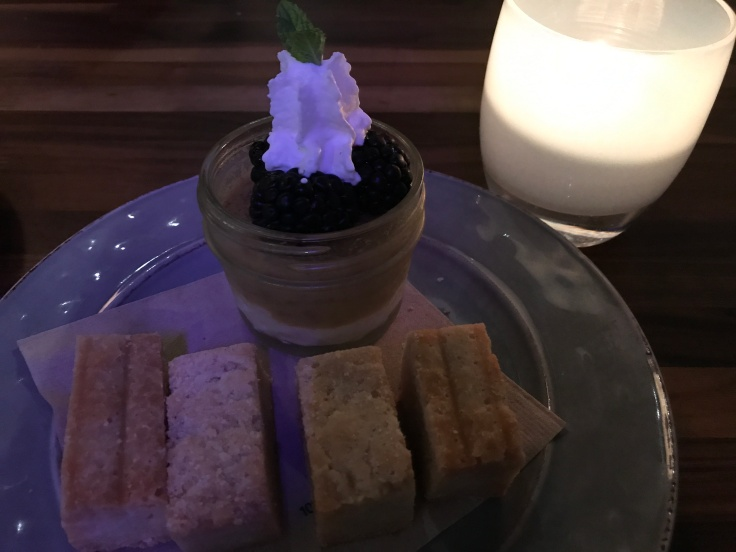 Pumpkin Pot de Crème and Twice Baked Shortbread Cookies at Asa in Los Altos, California