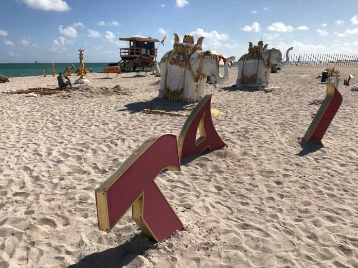 "Roll the Dice - Peter Tunney's, ""The Sinking of the Taj Mahal,"" at Faena Beach in Miami, Florida"