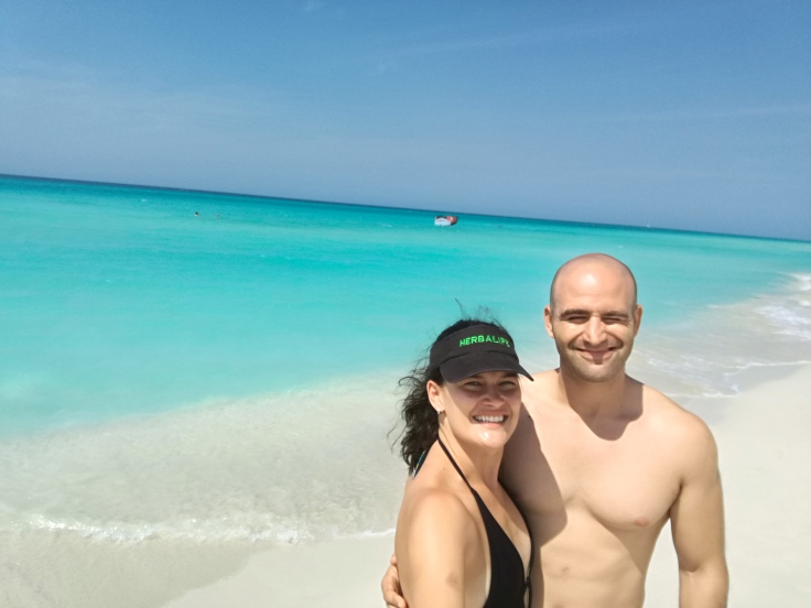 Yep, the Water is Really That Blue - Doron Nadivi and His Wife, Sofia Rojas, at Varadero Beach, Cuba - Photo Courtesy of Doron Nadivi