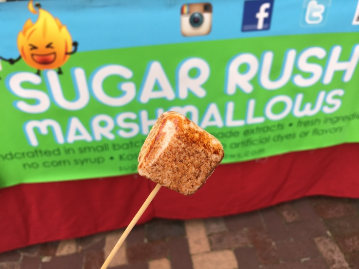 Churro - K by Me - A Churro Flavored Marshmallow From Sugar Rush Marshmallows at the Winter Garden Farmers' Market in Florida