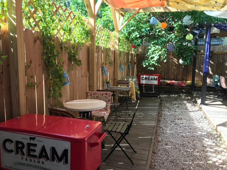 Perfect Patio - The Backyard Seating Area at Cream Parlor in Miami